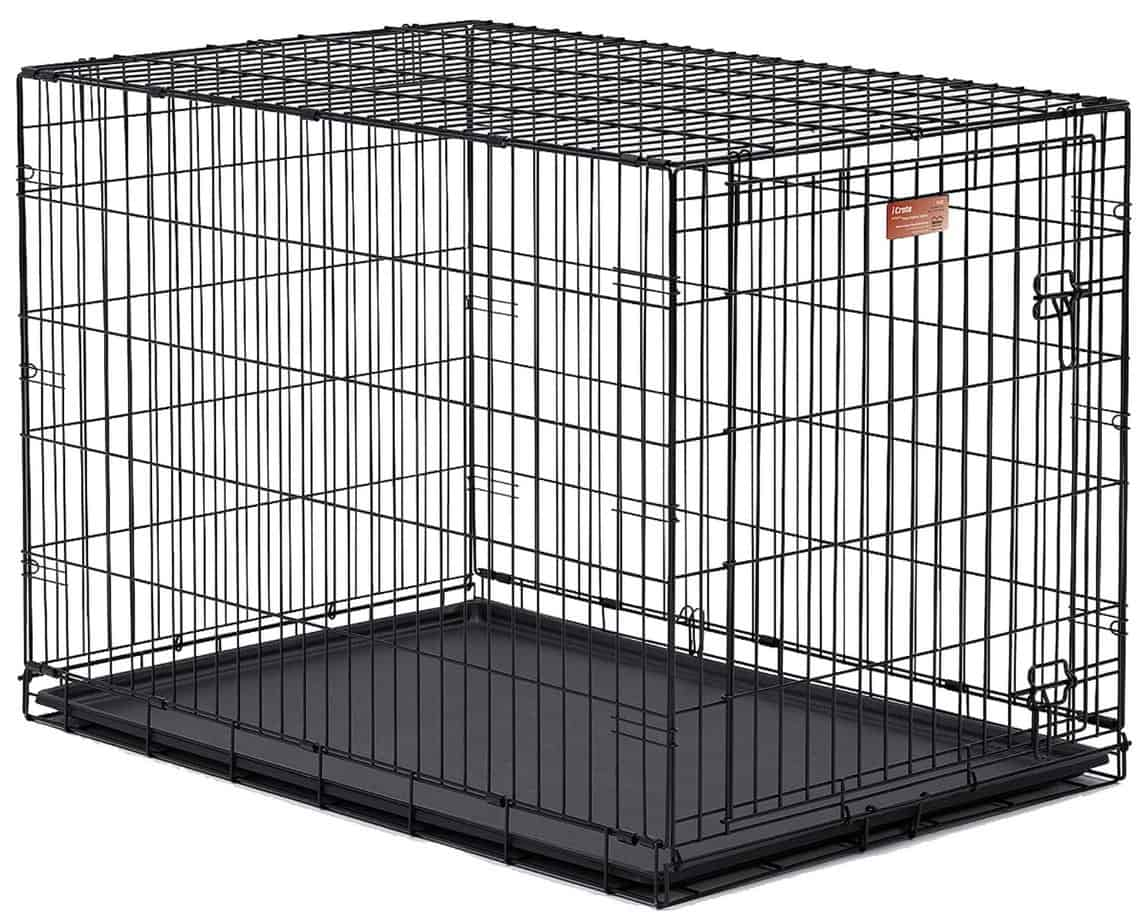 Midwest iCrate 1542DD Double Door Folding Dog Crate 42L x