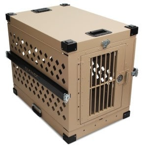 Desert Tan Impact Case Dog Crate Collapsible